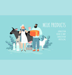 conceptual dairy products template vector image