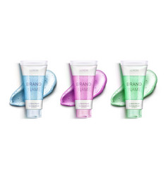 cosmetic scrub bottles and smears clip art set vector image