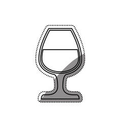 delicious cup of wine vector image