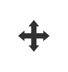 Double arrow icon in four direction web vector
