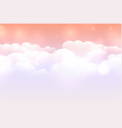 Dreamy cloud background with pastel color sky vector