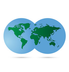 earth map and globe detail white background vector image