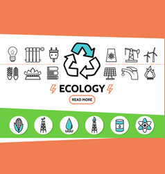 ecology and energy safety concept vector image