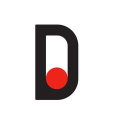 English font upper case letter d d logo logotype vector