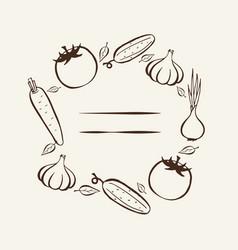farmers market frame for menu food design vector image