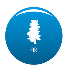 fir tree icon blue vector image