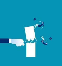Fist destroy success concept business vector
