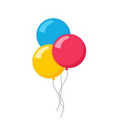 flat balloon birthday icon vector image