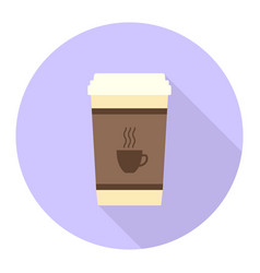 Flat coffee cup vector