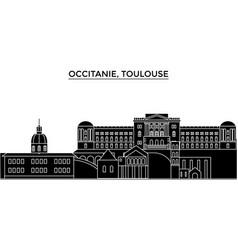 France occitanie toulouse architecture vector