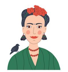 Frida khalo avatar vector