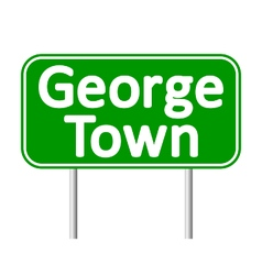 George Town road sign vector