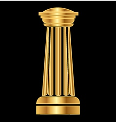 Gold column Ancient Greek vector
