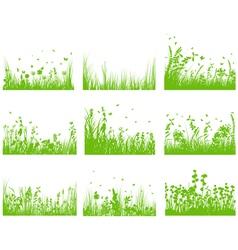 grass set nine vector image
