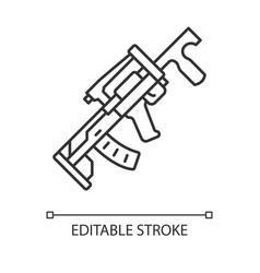 Groza weapon linear icon virtual game gun shooter vector