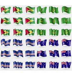 Guyana Mauritania Cape Verde Australia Set of 36 vector