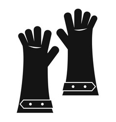 heat resistant gloves for welding icon simple vector image