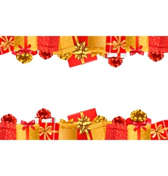 Holiday background with colorful gift boxes with vector