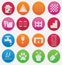 home icon gradient style vector image