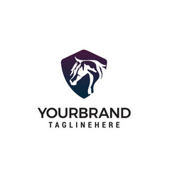 horse head logo design concept template vector image