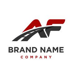 initial logo af road vector image