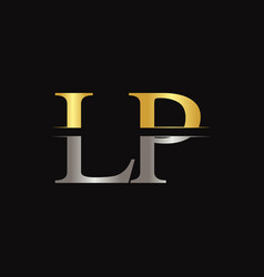 Initial lp letter logo design template abstract vector