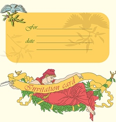Invitation card in retro style in vector