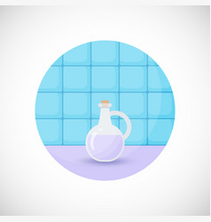 Lavender oil flat icon vector