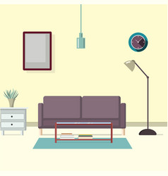 living room with modern furniture vector image