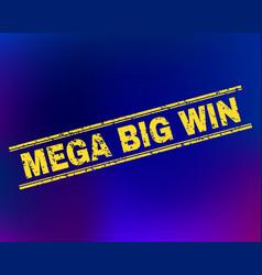 mega big win scratched stamp seal on gradient vector image