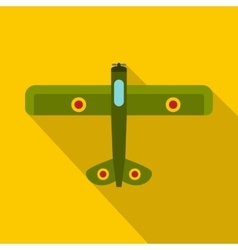 Military fighter plane icon flat style vector image