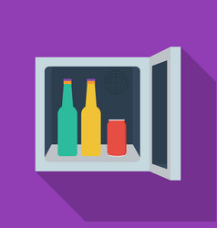 Mini-bar icon in flate style isolated on white vector