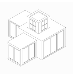 Modern house icon isometric 3d style vector