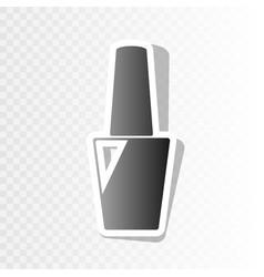 Nail polish sign new year blackish icon vector