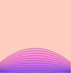 Pink and purple background from curved stripe vector