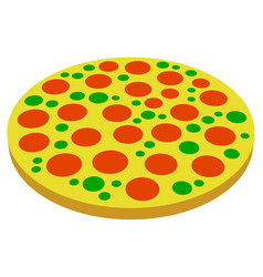 Pizza symbols pizza icons perspective 2 versions vector