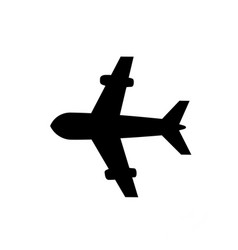 plane icon isolated on white background vector image