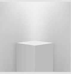 product presentation podium white stage empty vector image