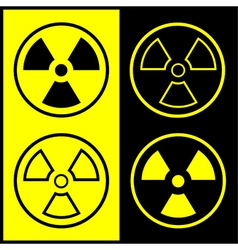 Radiation symbol icon vector