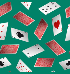realistic detailed 3d poker card seamless pattern vector image