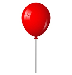 Red balloon on stick vector
