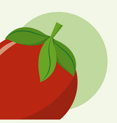 Red tomato cartoon vector