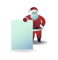 santa claus holding blank vector image