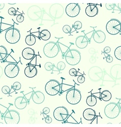 Seamless bicycle pattern vector image