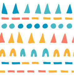 seamless pattern with hand drawn shapes vector image