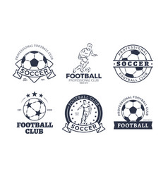 Set of football club graphic icons flat design vector