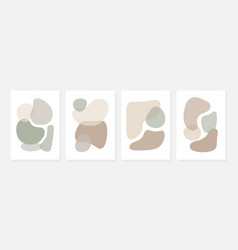set stylish templates with abstract shapes vector image
