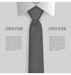 Shirt and tie business bacground vector