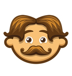 Smiling Man with mustache vector image