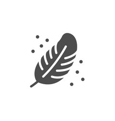 Softness icon or feather symbol vector